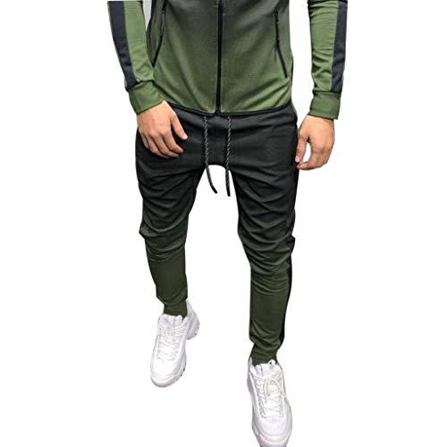 Hombres Jogger Chino Pantalones Slim Fit Jogging Casual