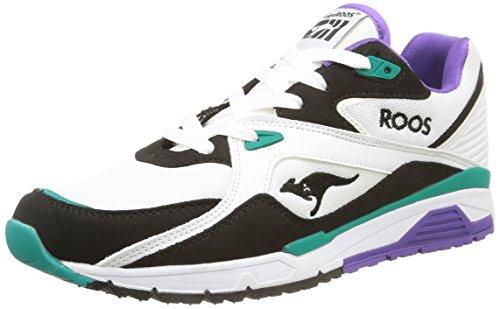 KangaROOS  Runaway Roos 001,  Sneaker uomo Bianco bianco taglia unica, Bianco (Blanc (White/Smaragd 083)), 45