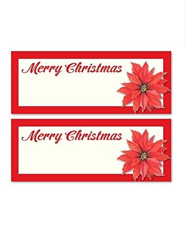 24x Traditionelle Weihnachten rot Weihnachtsstern Blume Floral Tischkarten Namen Anzahl Tisch Einstellungen Ideal zur Dekoration für Weihnachten Abendessen Tabellen oder Winter Mottoparty