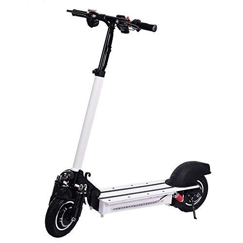 Wetour Scooter Eléctrico Plegable De 10 Pulgadas E-Scooter con Permiso De Circulación, Scooter Eléctrico De 1200W City para Adultos, 45-60KM / H, Blanco