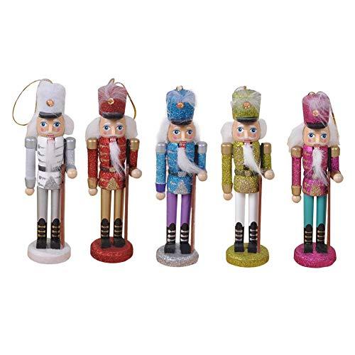e traditioneller König Nussknacker   Sammlerstück Nussknacker aus Holz   Feiertagsdekor   Weihnachts-Handwerks-Ausgangsdekorations-europäisches Art-Marionetten-Spielzeug ()