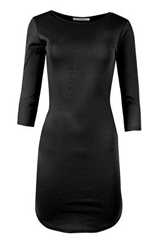 Saumabrundung Spalte Damen Kleid, lang, figurbetont, Midi, formale Anlässe, Übergröße Schwarz
