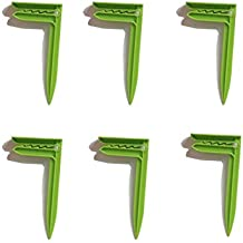 Yeelan Paquete de 6 pcs Toalla de playa Manta ancla clips (verde+ naranja)