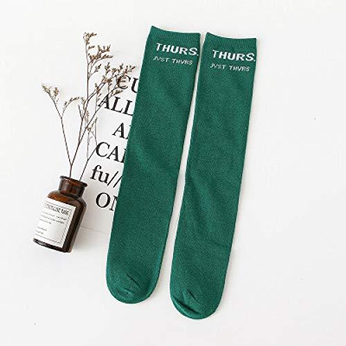 WADUANRUN Herren Milano Adult Socks/Mädchen in Strümpfen Baumwolle Lange Röhre Fußball Socken 100~140cm grün -