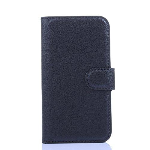 Ycloud Funda Libro para LG L70, Suave PU Leather Cuero con Flip Cover, Cierre Magnético, Función de Soporte,Billetera Case con Tapa para Tarjetas + 1x Lápiz óptico (Negro)