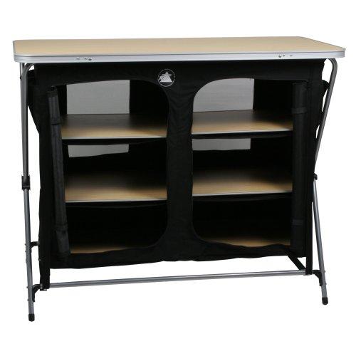 419QJDu0ZgL. SS500  - 10T Flapbox - Camping cupboard, 6 draws + top storage box, foldable steel frame, 53x110x90 cm