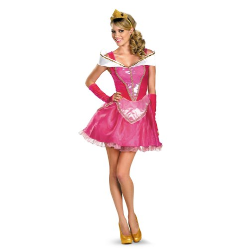 urora Costume Dress Adult Medium 8-10 (Sleeping Beauty Deluxe Kostüm)