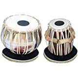 SG Musical Student Tabla Drum Set, Basic Tabla Set, Steel Bayan, Dayan with Book, Hammer, Cushions & Cover - Perfect Tablas for Students and Beginners on Budget (PDI-IB) Tabla Drums, Indian Hand Drums