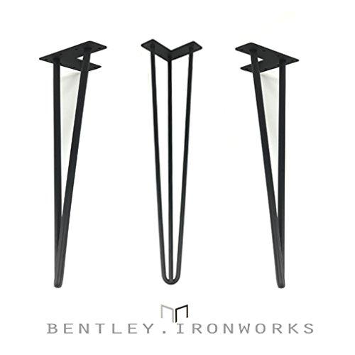 Juego de 4patas de mesa en horquilla, estilo retro industrial de acero de 12mm, barra de acero de 71cm.