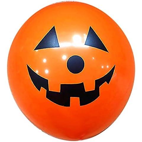 100pcs Globo Globos De Látex Del Cráneo Para Decoración De Fiesta Halloween - calabaza naranja, 12 pulgadas