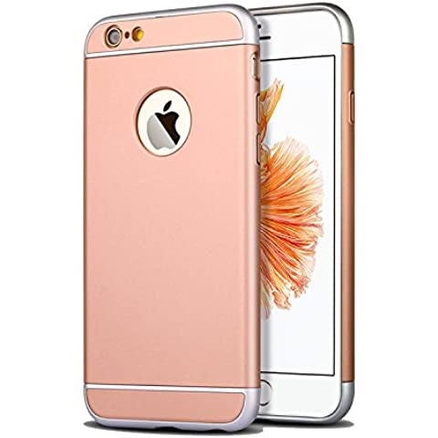 Funda para Apple iPhone 6 plus y 6S plus (5,5 pulgadas) 3 en 1 a prueba de golpes, extremamente delgada Funda protectora de parachoques trasero para Apple iPhone 6plus y 6S plus oro
