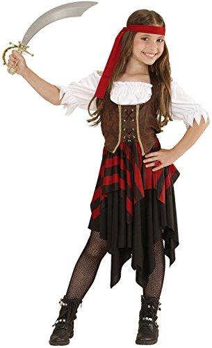 WIDMANN 05596–Disfraz para niños piratin, vestido, corsé y cinta, tamaño 128
