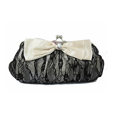 pwne L. In West Wome Luxury High-Grade Bowknot Lace Abend Tasche White