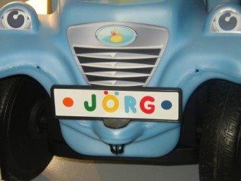 BIG Bobby-Car Nummernschild/Plate Schwarz
