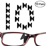 Luff 2.5mm Silicone Nose Pads Non-Slip Soft Adhesive Eyeglasses/Sunglasses/Reading Glasses Pads(10Pairs) (Black)