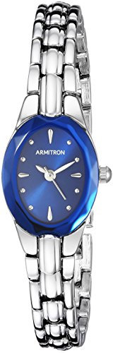 Armitron Women's 75/3313BLSV Sapphire Blue and Silver-Tone Bracelet Watch