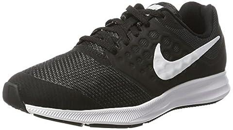 Nike Jungen Downshifter 7 (GS) Laufschuhe, Schwarz (Black/White-Anthracite), 37.5 EU
