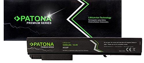 PATONA Premium Laptop Akku (5200mAh)  - Ersatz für Compaq HP EliteBook 530p 8530w 8540p 8540w 8730p 8730w usw.
