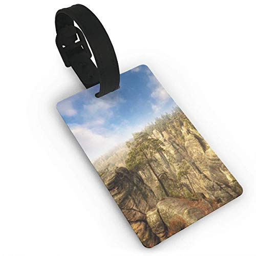 Wonders of The World National Park Rock Formation Czech Image Luggage Tags