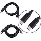 Nosii 1 / 2M Typ C zu USB C Ladekabel für Ladekabel für MacBook Google Chrome (Color : 2m)