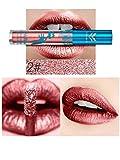 TENGGO 12 Farben Matt Metallic Lip Gloss Make-up Wasserdichte Samt Lippenstift Kosmetik-2