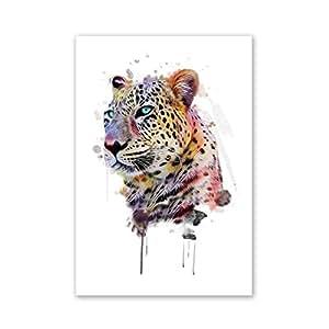 Mikolot Frameless leopardo pittura ad olio da numeri astratto immagini Home Wall Decor, s