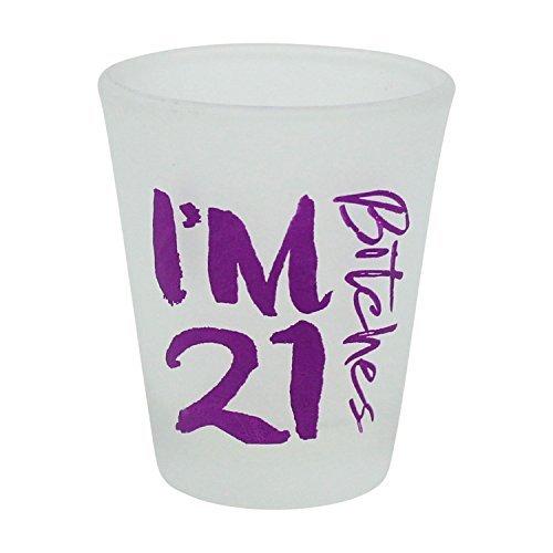 I 'm 21Bitches 2Unze Frosted Shot Glas-21. Geburtstag (21. Geburtstag Glas Shot)
