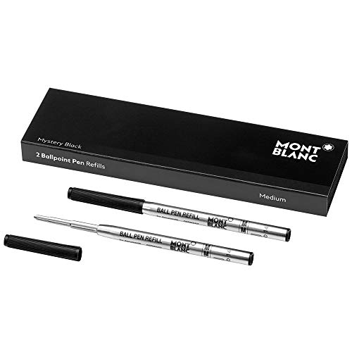 Montblanc 116190 Recharge pour Stylo Bille Montblanc - 2x Mystery Black - Noir - M - Taille Medium