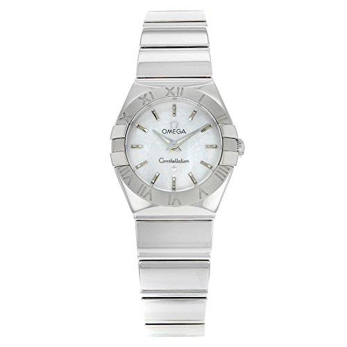 Omega signicase 123,10.24,60.05,002 Al quarzo in acciaio inox orologio da donna