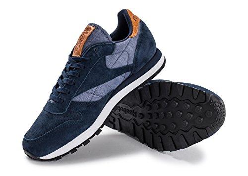 Reebok CL chaussures en cuir CH Marin Bleu