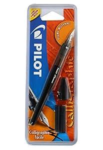 Pilot Plumix Stylo-Plume. Plume Moyenne + Cartouche encre noire,0.58mm