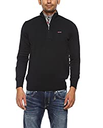 Spykar Mens Navy Regular Fit Mid Rise Sweatshirts (X-Large)