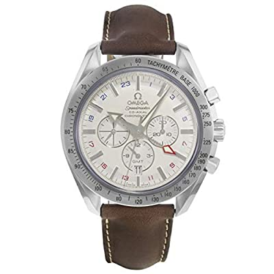 Omega Men's 3881.30.37 Speedmaster Broad Arrow GMT Automatic Chronometer Chronograph Watch