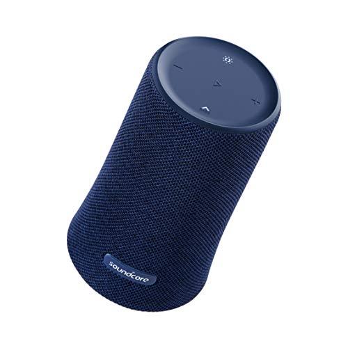 Anker Soundcore Flare Blau - Tragbare Lautsprecher (Verkabelt, Blau, Zylinder, Knöpfe, IPX7, Wasserfest)