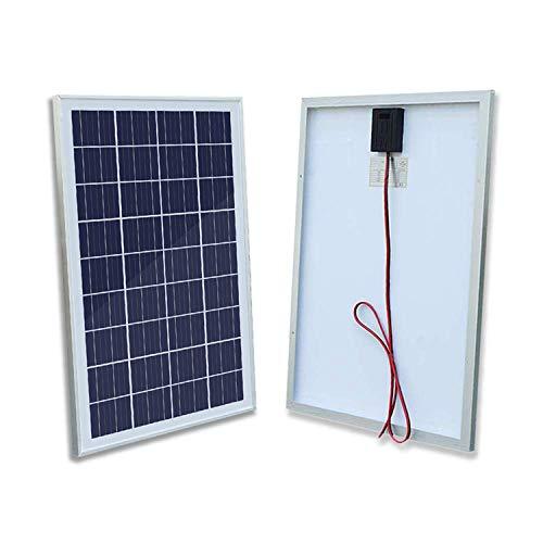 ECO-WORTHY 25 Watt 12 Volt polykristallines Solarmodul zum Laden von RV-Booten