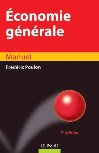 Économie générale par Frédéric Poulon