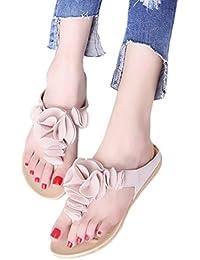 Sandalias de Mujer ❣JiaMeng Chanclas de Playa de Verano para Mujer Zapatos Planos Ocasionales de