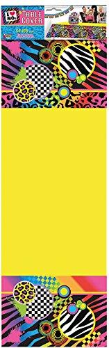 65 Party-Tischdecke, 80er Jahre, mehrfarbig, Einheitsgröße ()