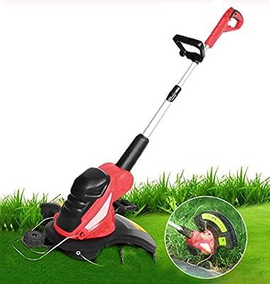 Ashey Rasentrimmer Rasenmäher Elektro Roboter Mit und ladegerät Geräte Vertikutierer Rasen Spindelmäher, Rasentrimmer, Kantenschneidfunktion, Variable Drehzahlvorwahl