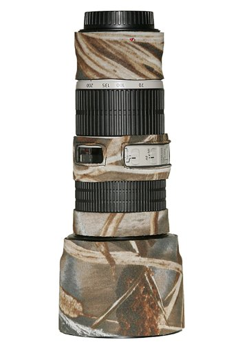 LensCoat Lens Cover for Canon 70-200IS f/4 Camouflage Neoprene Camera Lens Protection (Realtree Max4 HD) Lenscoat Lens Cover