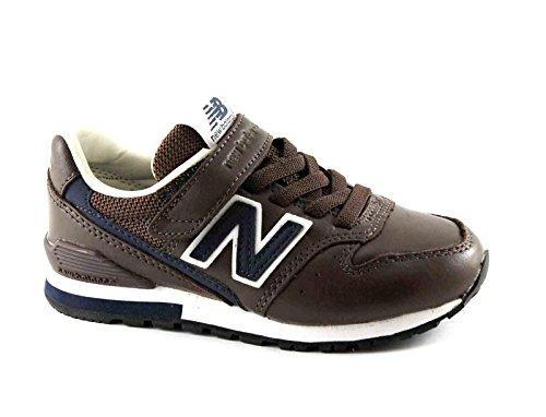 NEW BALANCE KV996 BNY marrone scarpe bambino strappo sneakers Marrone