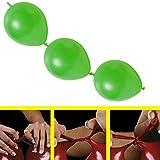 partydiscount24 50 x Girlandenballons Ø 30 cm | Freie Farbwahl | 19 Ballon Farben (Limonengrün)