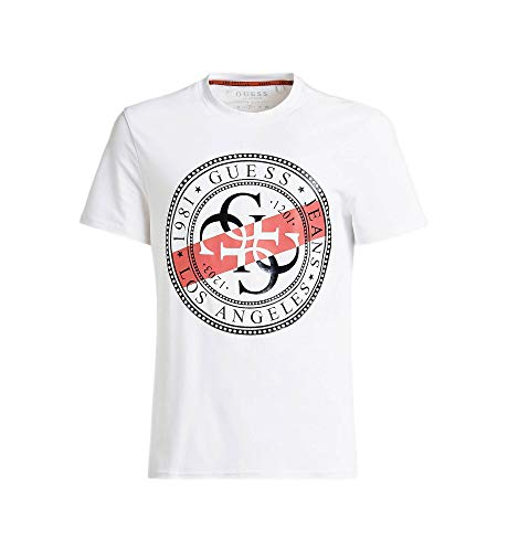 Guess Jeans M91I39J1300 T-Shirt mit kurtzen Ärmeln Damen Bianco TWHT 2XL