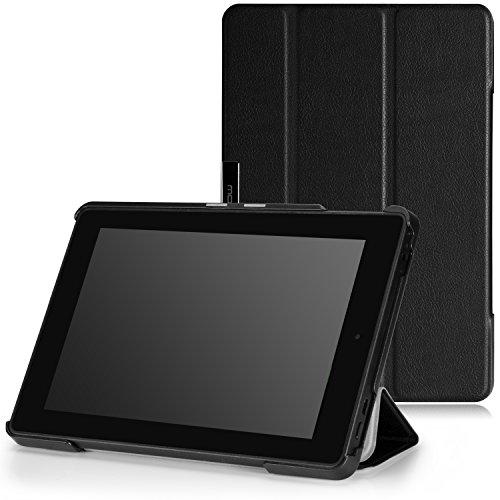 Hülle Kindle Amazon 4. Generation (MoKo Fire HD 7 2014 Hülle - Ultra Slim Lightweight Schutzhülle Smart Cover mit Auto Schlaf / Wach Funktion und Standfunktion für Amazon Kindle Fire HD 7.0