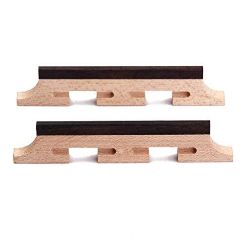 Banjo-brenner (HEALLILY 2 stücke 5 Saiten Banjo Bridge Palisander Dreibeinigen Saiteninstrumente Teile für Ukulele Gitarre Banjo HA05)