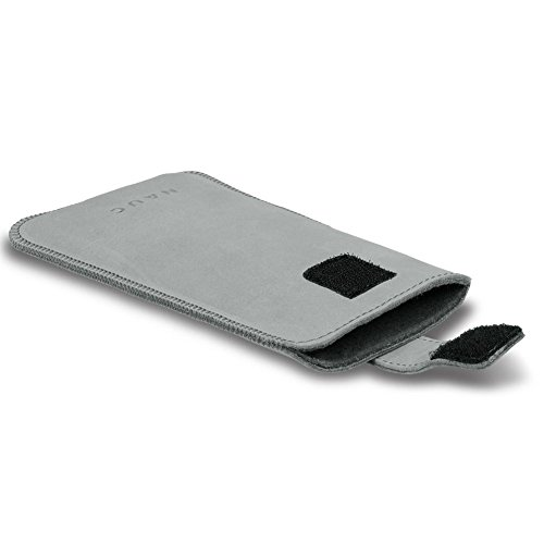 Smartphone Leder Tasche für Apple iPhone Handyhülle Cover Pull Tab Case Hülle, Farbe:Lila;Smartphone:Apple iPhone 8 Grau