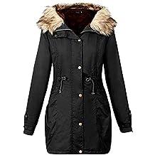 68cf059e73d7 TianWlio Damen Mäntel Frauen Jacke mit Kapuze Winter Lang Mantel Größe  Outwear