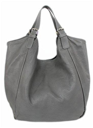 581694b50f1dc Leder Damen Schultertasche / XL Beutel-tasche / große Ledertasche / XXL  Shopper Echt-