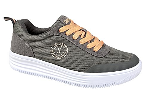 gibra, Sneaker donna grau/lachs