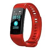 LONG Fitness Tracker, Activity Trackers, Bluetooth Waterproof Pedometer, Health Monitoring, Sleep Analysis, Kalorie, geeignet für Männer und Frauen,red
